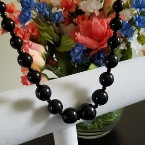 Jewelry - Classic Black Beaded Necklace NWOT